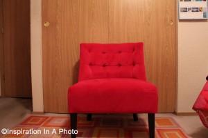 Fuschia chair_bedroom