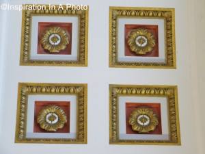 Ceiling Medallions_Red and Gold
