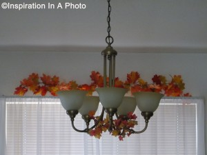 Living room decor_window and chandelier