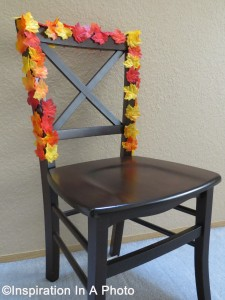 Fall-inspired chair