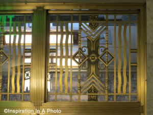 Art deco transom window
