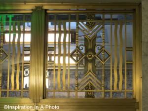 Art deco transom window