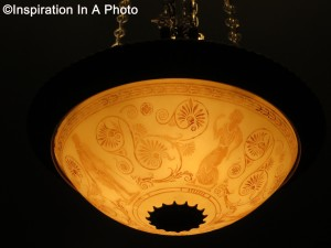 Etched pendant light