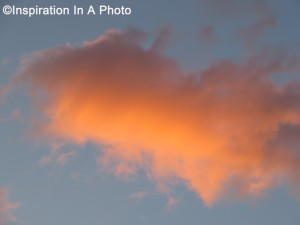 Blazing cloud at sunset