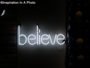 Believe wall art