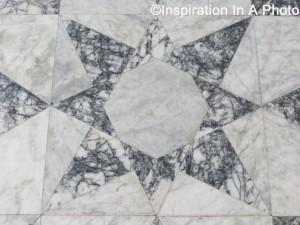 Geometric marble floor