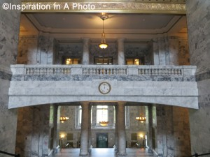 Symmetrical marble rotunda