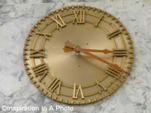 Bronze clock_hallway