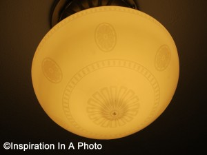 Lightly etched fixture_close up