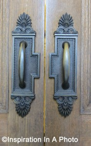 Law library door handles