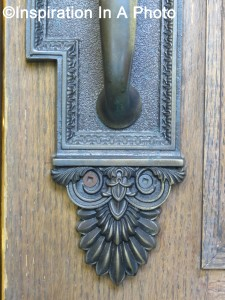 Law library door handle_close-up