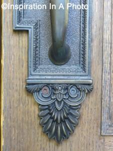 Law library door handle_close-up