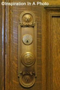 Door knob with state seal