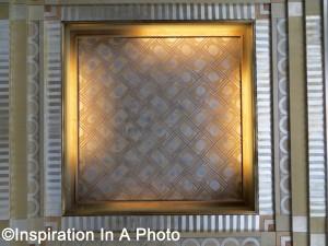 Gilded lobby ceiling