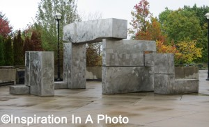 Metal-clad monolith_public art
