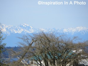 Snowcapped mountains in distance
