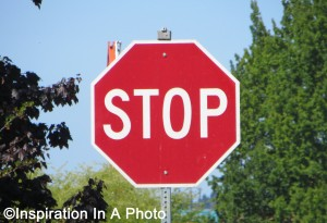Classic stop sign